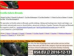 Thumbnail of Gorilla Safaris Rwanda Website