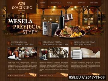 Zrzut strony Hotel w Chojnicach gwarantujący spokojny wypoczynek - Gościniec
