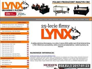 Zrzut strony LYNX - grawerki i plotery