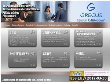 Zrzut strony Grecus centrum odszkodowań - polisy posagowe