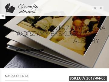 Zrzut strony Greenflyalbums ekskluzywne albumy