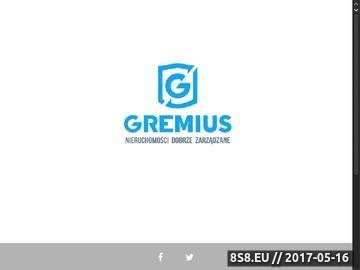 Zrzut strony Gremius Nieruchomości - Pozyskiwanie nieruchomości komercyjnych