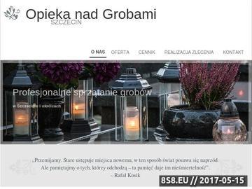 Zrzut strony Opieka nad grobami Szczecin - sprzątanie grobów Szczecin
