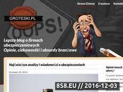 Miniaturka Informacje i ciekawostki o ubezpieczeniach (groteski.pl)