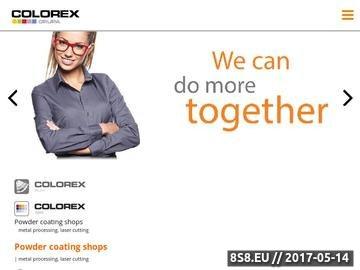 Zrzut strony Lakiernia Proszkowa - Cięcie Laserowe -Grupa Colorex