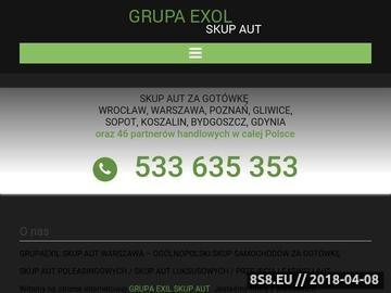 Zrzut strony Grupaexil skup aut Poznań