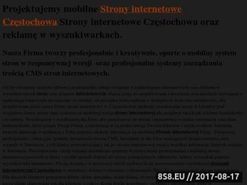 Zrzut strony Strony internetowe Śląsk - agencja interaktywna Śląsk
