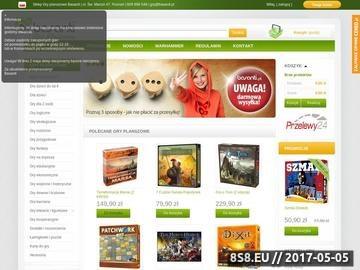Zrzut strony GryPlanszowe-Basanti.pl - sklep z grami towarzyskimi