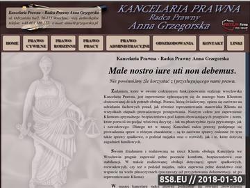 Zrzut strony Anna Grzegorska kancelaria prawna