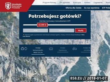 Zrzut strony Kredyt preferencyjny dla rolników w gtf.pl