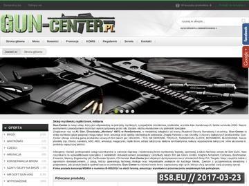 Zrzut strony Sklep z bronią Gun Center