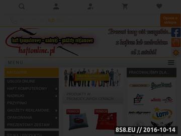 Zrzut strony Haft - Nadruki - Gadżety reklamowe Rybnik Haftonline.pl