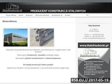 Zrzut strony HaleStudnicki - Wiaty, hale, konstrukcje stalowe