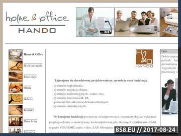 Zrzut strony Systemy interaktywne HANDO