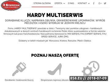 Zrzut strony Naprawa obuwia Warszawa, Kraków