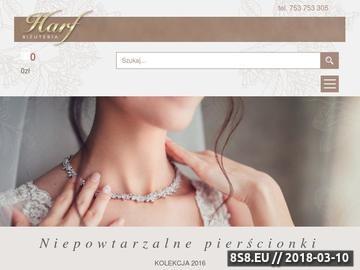 Zrzut strony Hurtownia biżuterii srebrnej Harf.pl