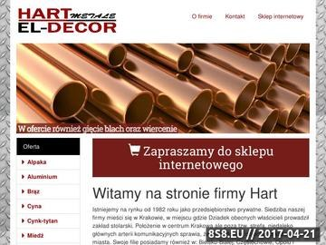 Zrzut strony El Decor E. Kopcińska - rury aluminiowe