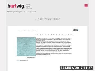 Zrzut strony Projektowanie stron internetowych Warszawa - Hartwig