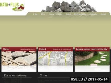 Zrzut strony Hata-Plus: płyty tarasowe i kostka brukowa mazowieckie