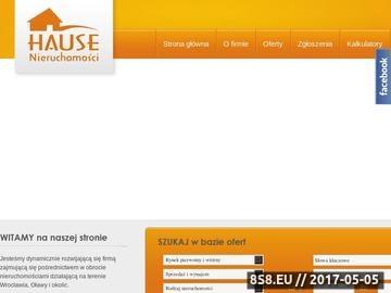 Zrzut strony Biuro nieruchomości HAUSE - Wrocław, Oława