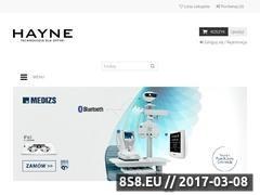 Thumbnail of Hurtownia optyczna Hayne Polska Website