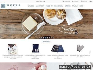 Zrzut strony HEFRA S.A. - sztućce i galanteria stołowa