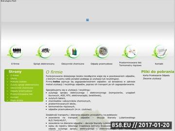 Zrzut strony HELIOS utylizacja chemikalów