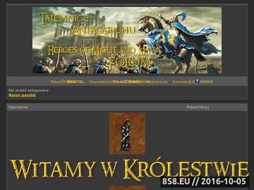 Zrzut strony Tajemnice Antagarichu Heroes of Might and Magic III Forum