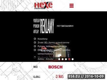 Zrzut strony Hexe - znaki 3D