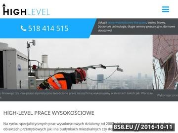 Zrzut strony HIGH-LEVEL Prace wysokościowe
