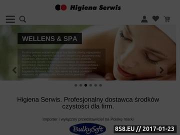 Zrzut strony Higiena Serwis Bilewicz K.D. profesjonalne środki czystości Warszawa