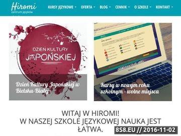 Zrzut strony Kursy i szkolenia językowe