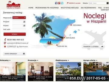 Zrzut strony Ibermaxx, wynajmy w Hiszpanii