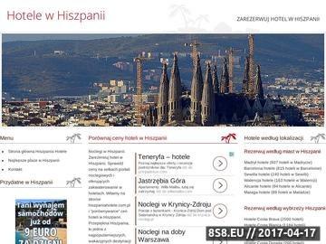 Zrzut strony Hotele Barcelona