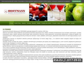 Zrzut strony Wytwórnia aromatów spożywczych HOFFMANN - aromaty proszkowe