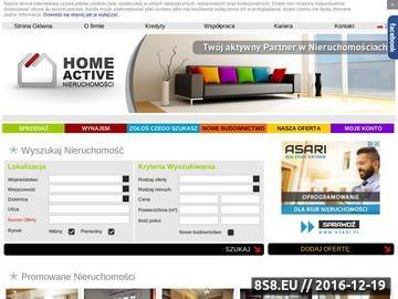 Zrzut strony Home Active - biuro nieruchomości Bielsko Biała