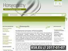 Thumbnail of Homeopathy Guide Website