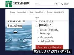 Miniaturka domeny www.homocreatore.pl