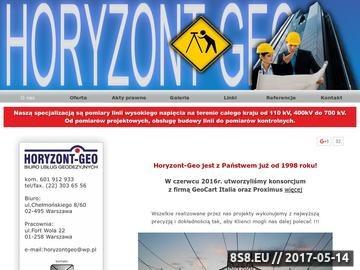 Zrzut strony Horyzont-Geo - geodeta