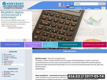 Zrzut strony Uczelnia Informatyki z Wrocławia