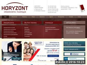 Zrzut strony Horyzont - ubezpieczenia