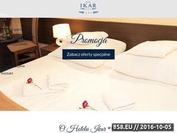 Zrzut strony Ikar - hotel