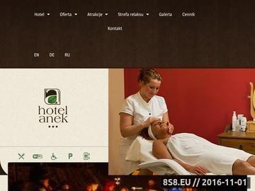 Zrzut strony Hotel Anek w Mrągowie