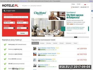 Zrzut strony Hotele.pl: hotele w Polsce i na świecie
