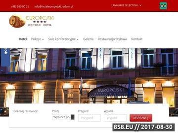 Zrzut strony Noclegi w pięknym hotelu