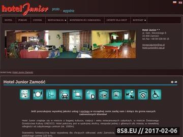 Zrzut strony Hotel Junior Zamość - tanie noclegi w Zamościu, Hotele Zamość