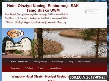 Zrzut strony Hotel Olsztyn - noclegi, restauracja SAK