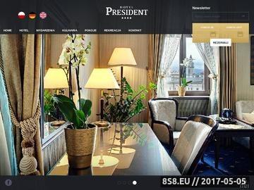 Zrzut strony Hotel President - Bielsko-Biała - Restauracja
