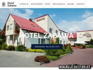 Zrzut strony Hotel Zabawa - pokoje