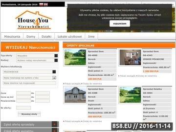Zrzut strony House4you Nieruchomości Warszawa, Legionowo